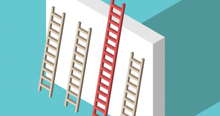 Isometric unique ladder, wall
